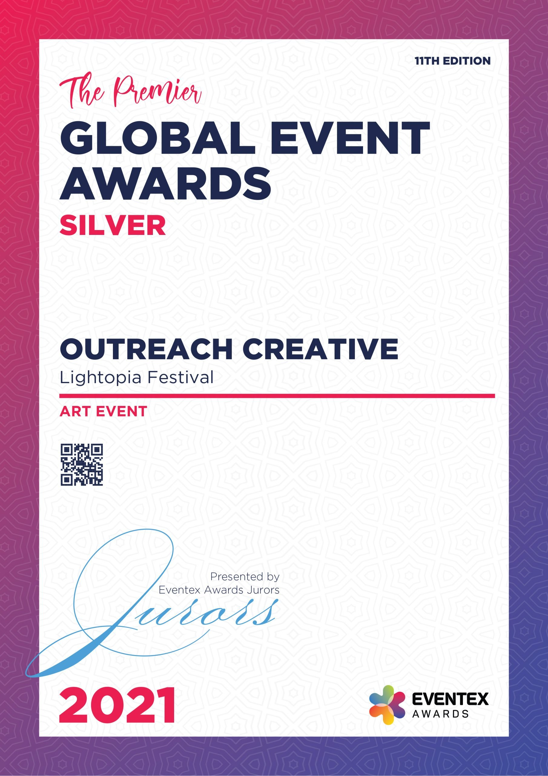 OUTREACH CREATIVE-Art Event-Silver-Eventex-2021