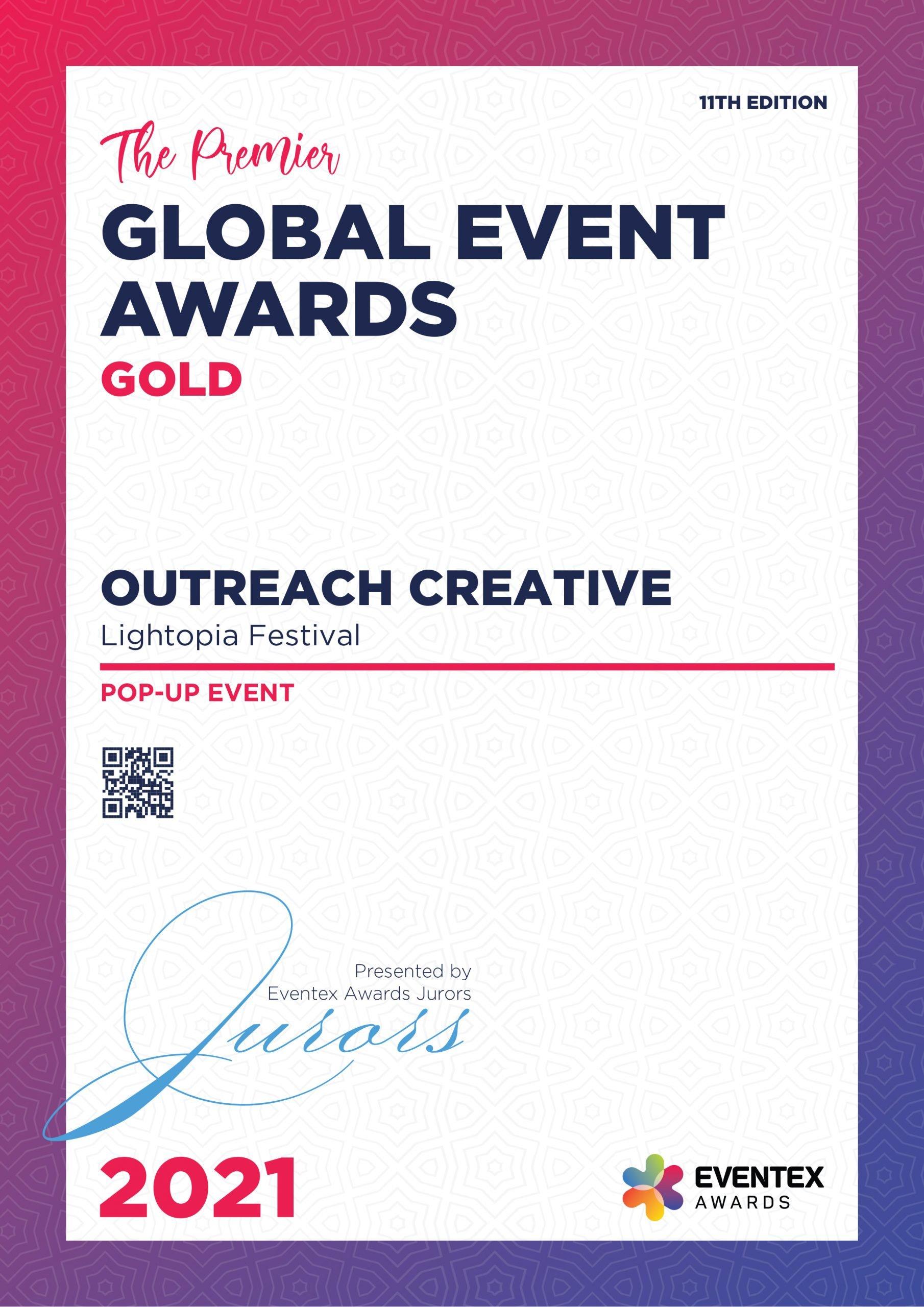OUTREACH CREATIVE-Pop-up Event-Gold-Eventex-2021