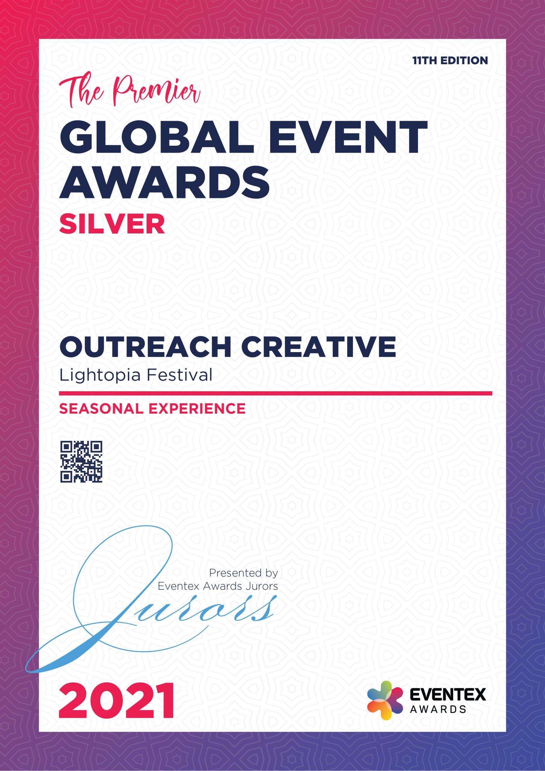 OUTREACH CREATIVE-Seasonal Experience-Silver-Eventex-2021